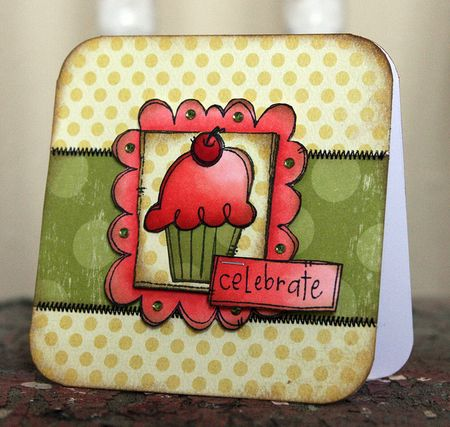 Jenn Biederman - Celebrate Doodle Framed Cupcake