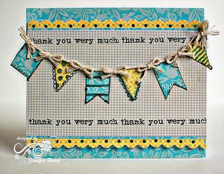 Jennifer Roach - Thank You Build-a-Banner Card