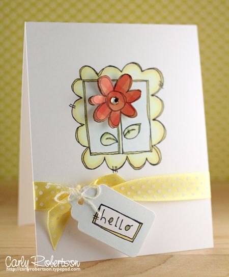Carly Robertson - Hello Doodle Frame Flower