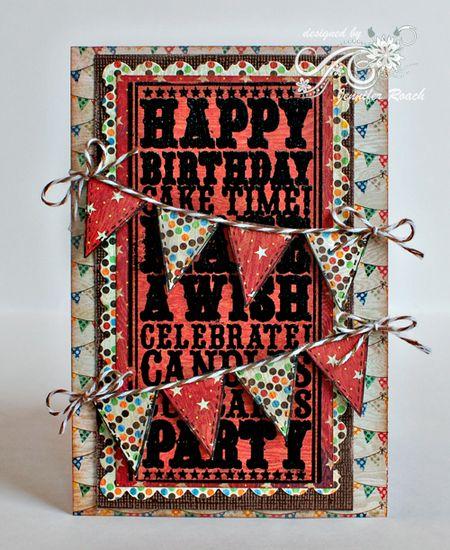 Jennifer Roach - Birthday Noteblock and Banner Card