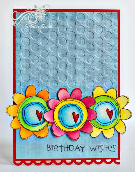 Jennifer Roach - Mixed Middles Birthday Wish Card