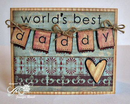 Jennifer Roach - Daddy Banner Card