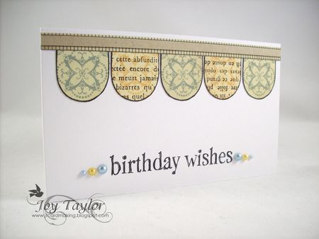 Joy Taylor - Scallop Birthday Wishes Card