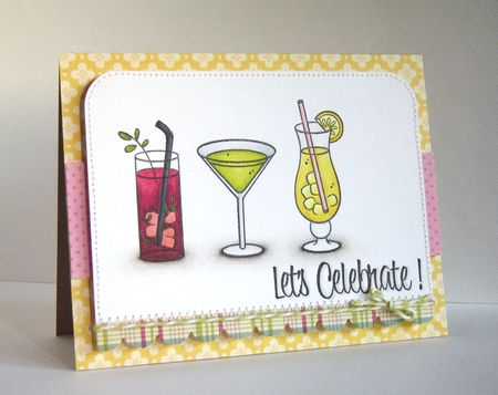 Alice Wertz - Lets Celebrate Mixed Drinks Card