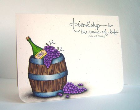 Alice Wertz - Wine Barrel Friendship Card