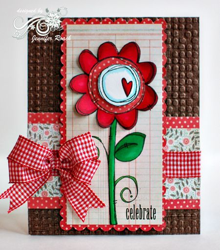 Jennifer Roach - Mixed Middles Flower Card