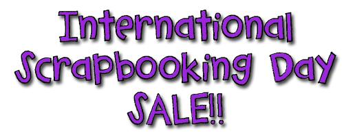 International scrapbooking day sale
