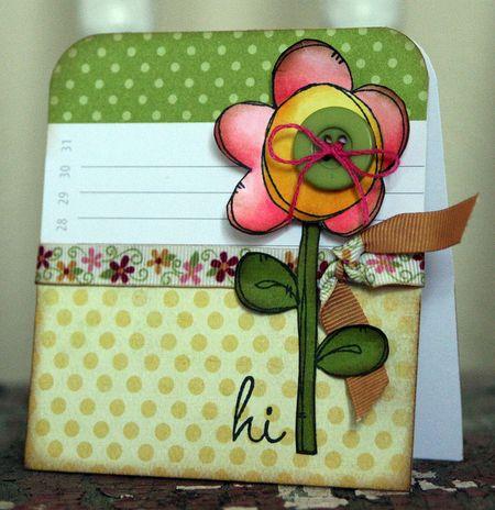 Jenn Biederman - Hi Button Flower
