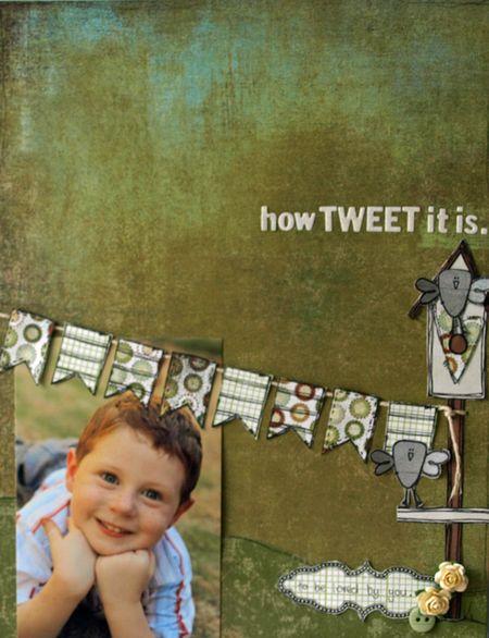 Julie Dudley - How Tweet It Is layout