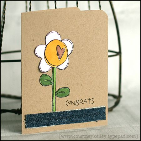Courtney Kelley - Congrats Heart Flower Card