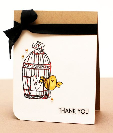 Kryssi Ng - Thank You Birdcage Card