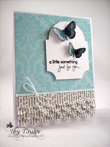 Joy Taylor - Blue Butterfly and Damask Card