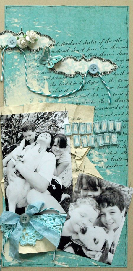 Julie Dudley - Backyard Antics Layout