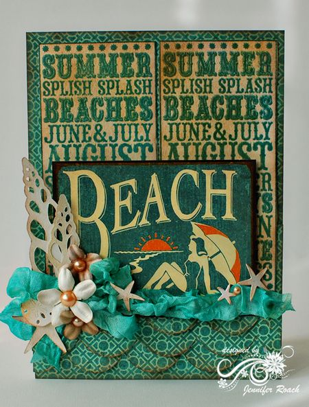 Jennifer Roach - Summer Noteblock Beach Card