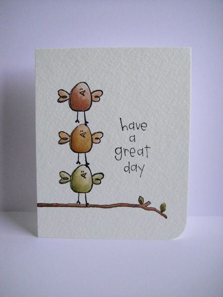Donna Mikasa 3 Bird Have a Great Day Card
