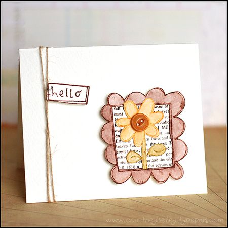 Courtney Kelley - Hello Doodle Framed Flower