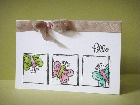 Donna Mikasa - Lovebug Butterfly 3 Frame Card