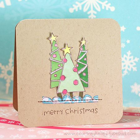 Courtney - Merry Christmas Doodle Frame Tree