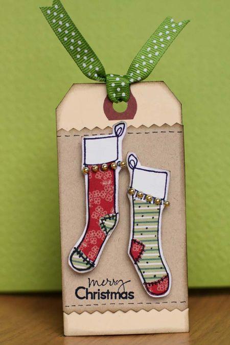 Sharon - christmas tag socks
