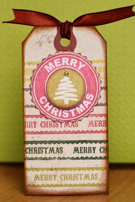 Sharon - christmas tag ribbons