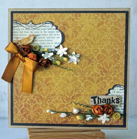 Julie dudley autumn thanks card