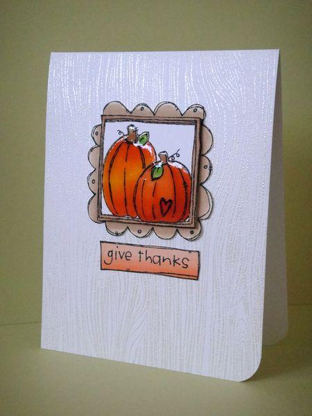 Donna Mikasa - Doodle Frame Pumpkin Card - Glossy