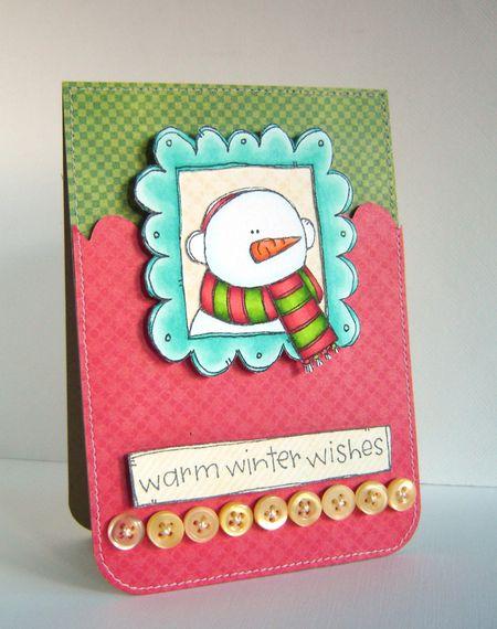 Alice Wertz - Snowman Doodle Frame Card