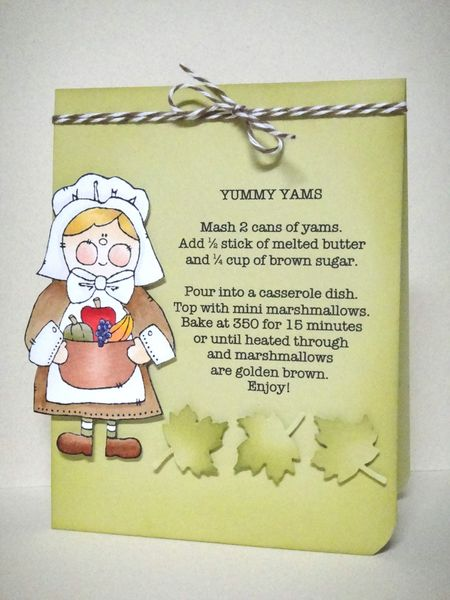 Donna Mikasa - Pilgrim Mary recipe card