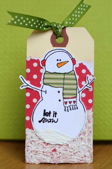 Sharon - christmas tag snowman