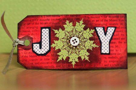 Sharon - christmas tag joy