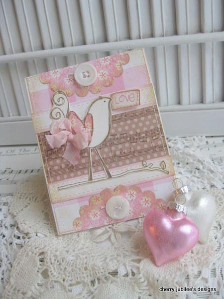 Cherry Nelson - Love Curly Bird Card