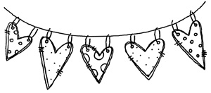 Hanging Hearts - blog sneak