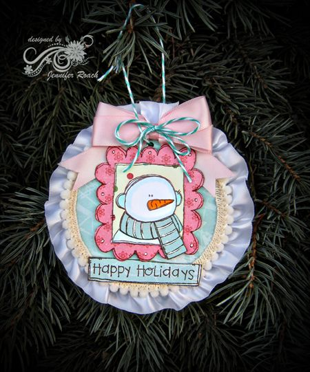 Jennifer Roach_Framed Snowman_Tree Ornament