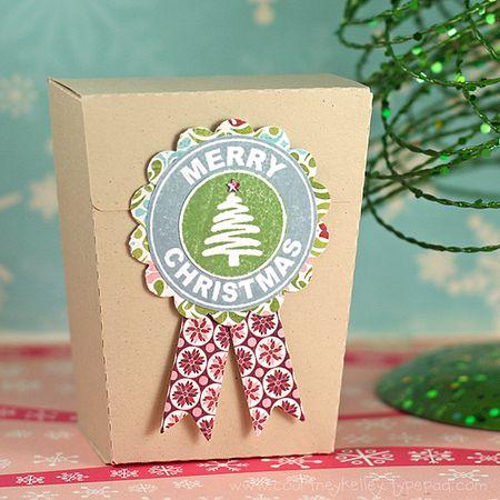 Courtney Kelley - Merry Christmas Medallion Box
