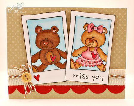 Jen roach - Polairoid bear card