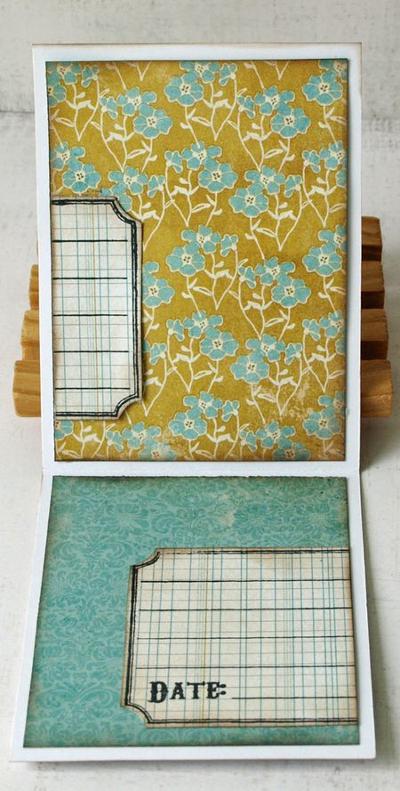 Julie dudley journaling card flap open