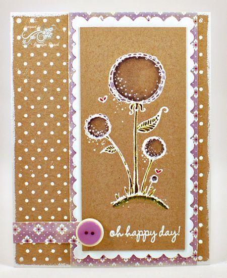 Jen Roach - Stacey flower card