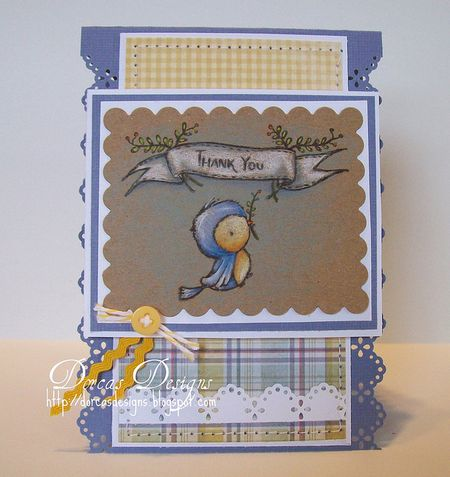 Dorcas Perkins - Thank You Bird card