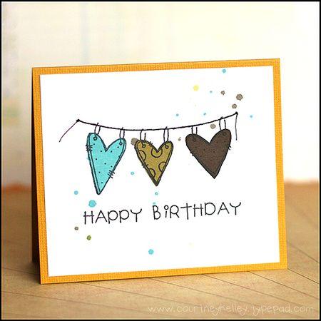 Courtney Kelley - Happy Birthday Heart Banner