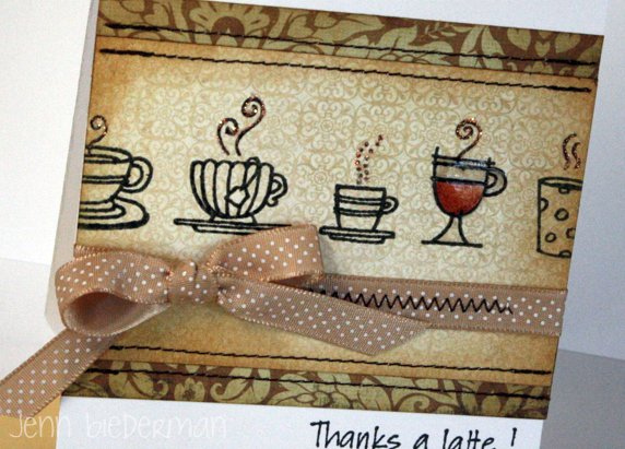 Jenn Biederman - Thanks a Latte Card Close Up