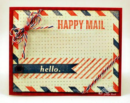 Jen roach - airmail card