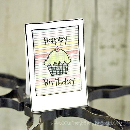 Courtney Kelley - Happy Birthday Cupcake