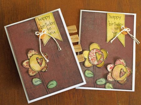 Julie dudley june happy birthday to you card set