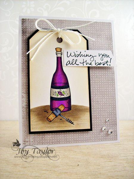 Joy Taylor - Wine Bottle Card