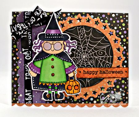 Jen Roach - Stephanie A Halloween Witch card
