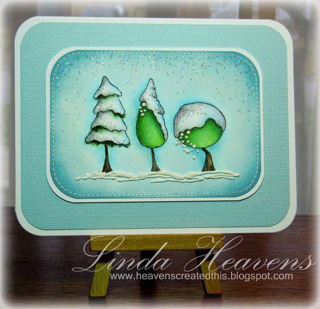 Linda Heavens - Stacey Yacula Snowy Trees