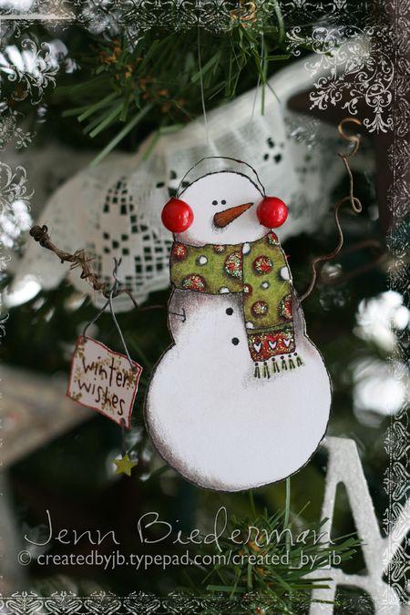 Jenn B - Snowman Ornament