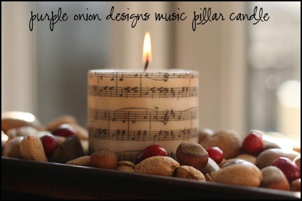 Music Pillar Candle copy