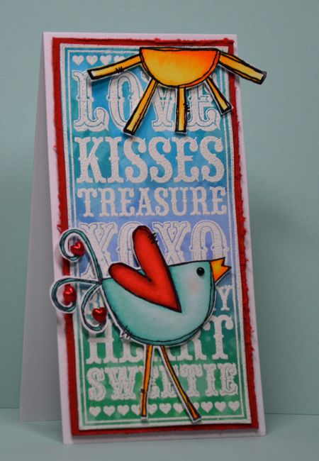 Kelly Booth - Love Noteblock & Faith The Chicken Card