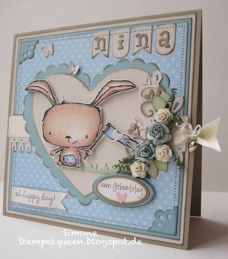 Simone Schwagler - Blue Poppy Card